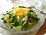 蒸し春野菜のミモザサラダ